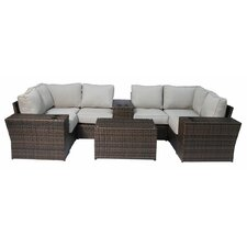 Lucca 10 Piece Sectional Seating Group with Cushion