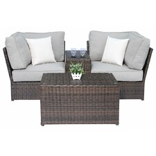 Lucca 4 Piece Deep Seating Group with Cushion