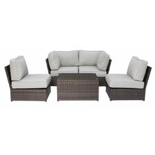 Lucca 5 Piece Sectional Seating Group with Cushion