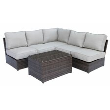 Lucca 6 Piece Sectional Seating Group with Cushion