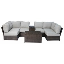 Coupon Lucca 8 Piece Sectional Seating Group with Cushion