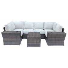 Lucca 9 Piece Sectional Seating Group with Cushion