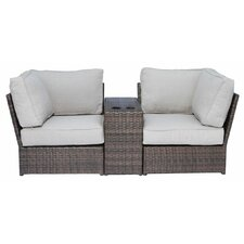 Lucca 3 Piece Sectional Seating Group with Cushion