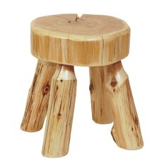 Traditional Cedar Log Ottoman