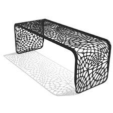 Coral Steel Picnic Bench