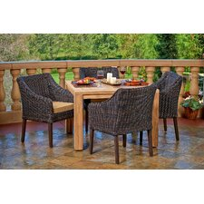 Trenton 5 Piece Arm Dining Set