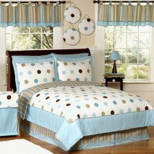 Mod Dots Blue Kid Bedding Comforter Collection