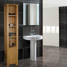 mobel oak 36 5 x 180cm free standing tall bathroom cabinet