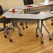 Officeworks Trapezoid Training Table with Wheels