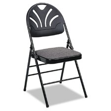 Fabric Padded Seat/Molded Low-Back Folding Office Chair (Set of 4)