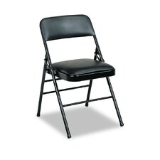Deluxe Vinyl Padded Series Low-Back Folding Office Chairs (Set of 4)