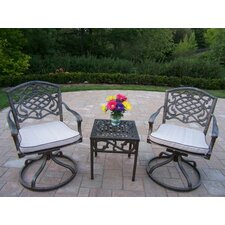 Mississippi 3 Piece Swivel Rocker Seating Group with Cushion