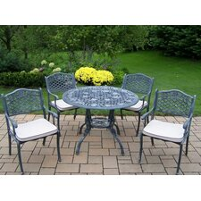 2017 Online Tea Rose 5 Piece Dining Set with Cushions