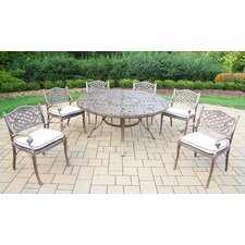 Today Only Sale Mississippi 7 Piece Dining Set with Cushions