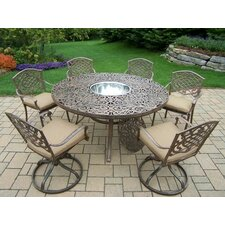Mississippi 7 Piece Dining Set with Cushions