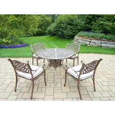 Mississippi 5 Piece Dining Set with Cushions