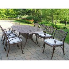 Find Mississippi 9 Piece Dining Set with Cushions