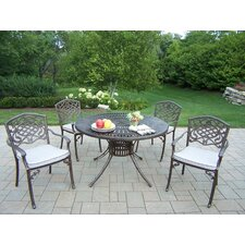 Lovely Sunray Mississippi 5 Piece Dining Set with Cushions