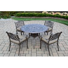 Capitol 5 Piece Dining Set with Cushions