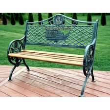 God Bless America Garden Bench