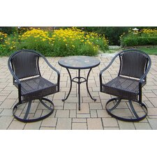 Best #1 Stone Art 3 Piece Bistro Set