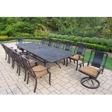 Vanguard 13 Piece Dining Set with Cushions
