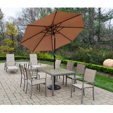Wonderful Padded Sling 9 Piece Dining Set