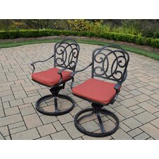 Amazing Berkley Aluminum Swivel Rockers with Cushion (Set of 2)