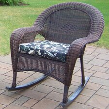 Resin Wicker Rocker with Cushion (Set of 2)