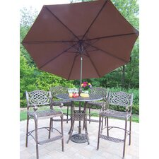 Elite Mississippi 5 Piece Bar Set with Umbrella