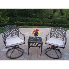 Mississippi 3 Piece Swivel Rocker Seating Group with Cushions