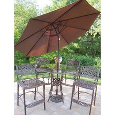 Fresh Hummingbird Mississippi 6 Piece Bar Set with Umbrella
