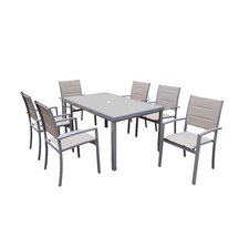 Padded Sling 7 Piece Dining Set