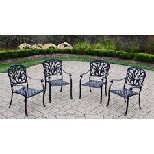 Today Sale Only Hampton Stackable Dining Arm Chairs (Set of 4)