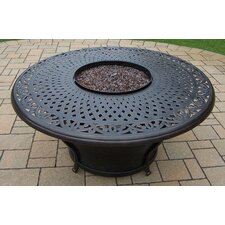 Charleston Round Gas Firepit Table