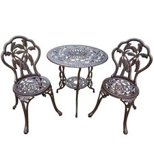 Palm Tree 3 Piece Bistro Set