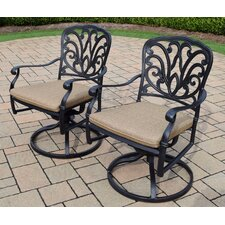 Hampton Aluminum Swivel Rocker with Cushion (Set of 2)