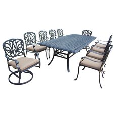 Hampton 11 Piece Dining Set with Cushions