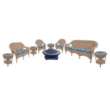 Resin Wicker 9 Piece Seating Group with Cushions