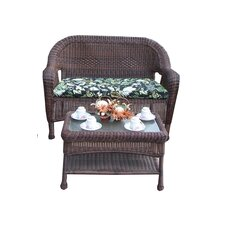 Resin Wicker 2 Piece Seating Group with Cushion