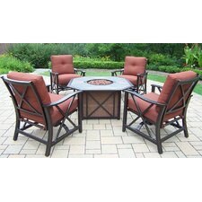 Haywood 5 Piece Fire Pit Seating Group with Cushions