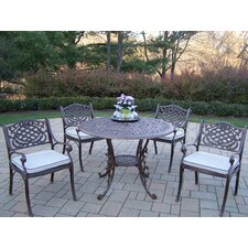 Great Reviews Mississippi 5 Piece Dining Set with Cushions