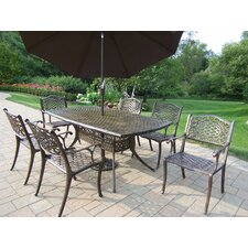 Mississippi 7 Piece Dinning Set with Umbrella