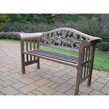 Find Tea Rose Royal Aluminum Garden Bench
