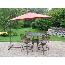Elite Mississippi Swivel 5 Piece Bar Set with Umbrella
