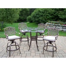 Hummingbird Mississippi Swivel 5 Piece Bar Set with Cushions