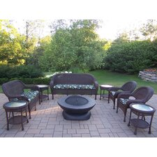 Resin Wicker 9 Piece Lounge Seating Group Set