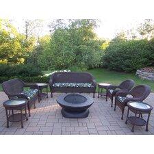 Resin Wicker 9 Piece Lounge Seating Group Set