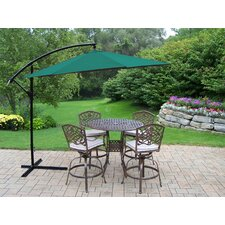 Elite Mississippi 5 Piece Bar Set with Cushions and Umbrella