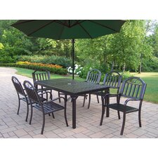 Rochester 8 Piece Dining Set with Umbrella